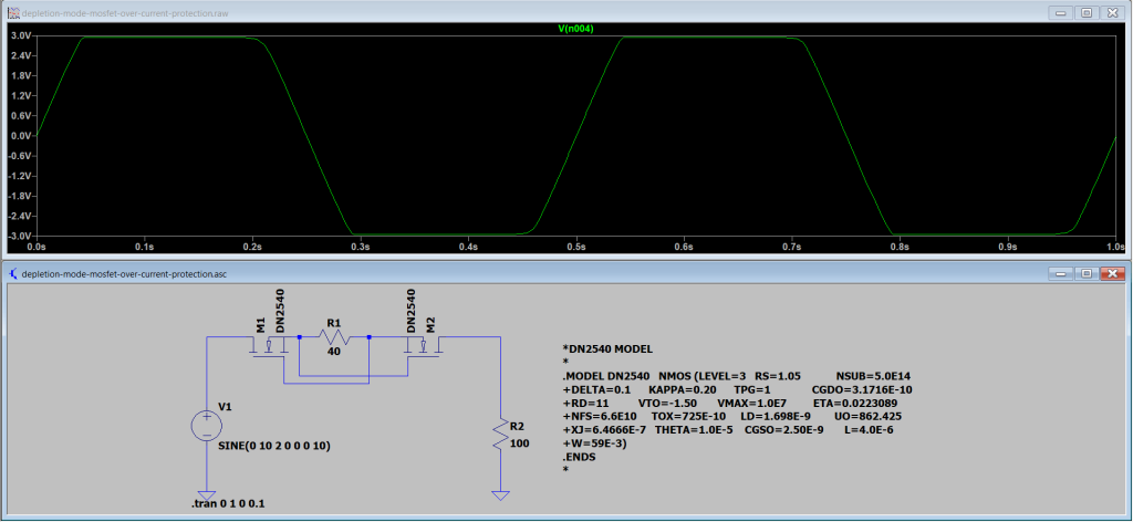 Bi-directional-over-voltage-protection-simulation